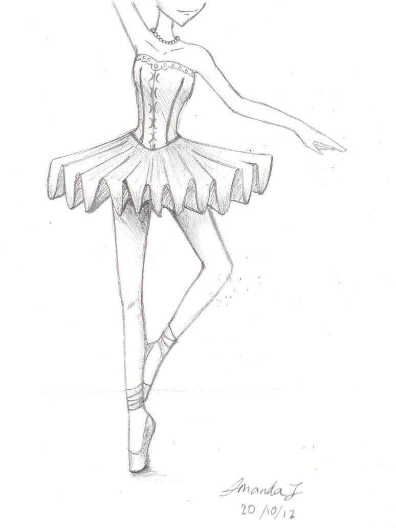 774x1032 How To Draw Ballet Drawn Ballerina Easy