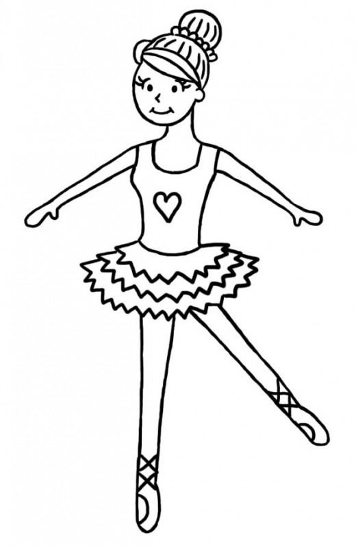 520x797 How To Draw A Ballerina Step By Step Tutorial For Children