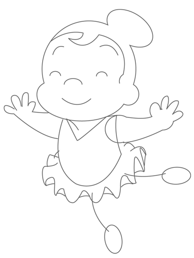 400x532 How To Draw Cartoon Ballerinas With Easy Step By Step Drawing