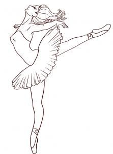 222x302 How To Draw A Ballerina, Step By Step, Figures, People, Free