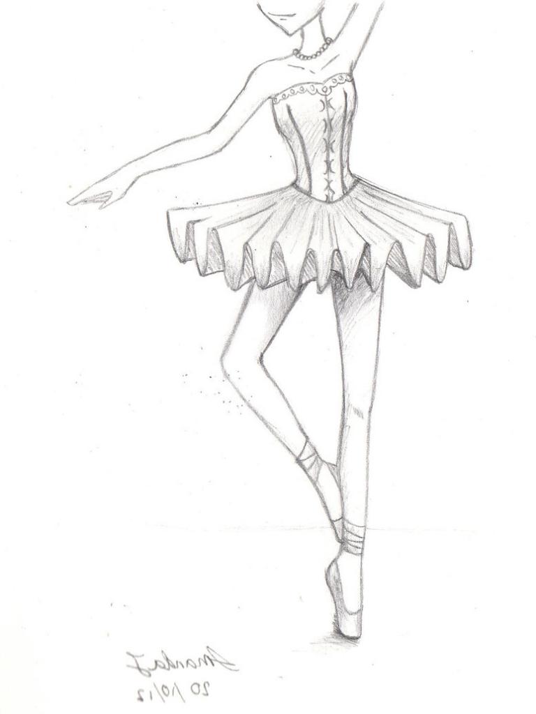768x1024 Original Pencil Drawing 11 X 8 14 Of Ballerina By By Ewagawlik