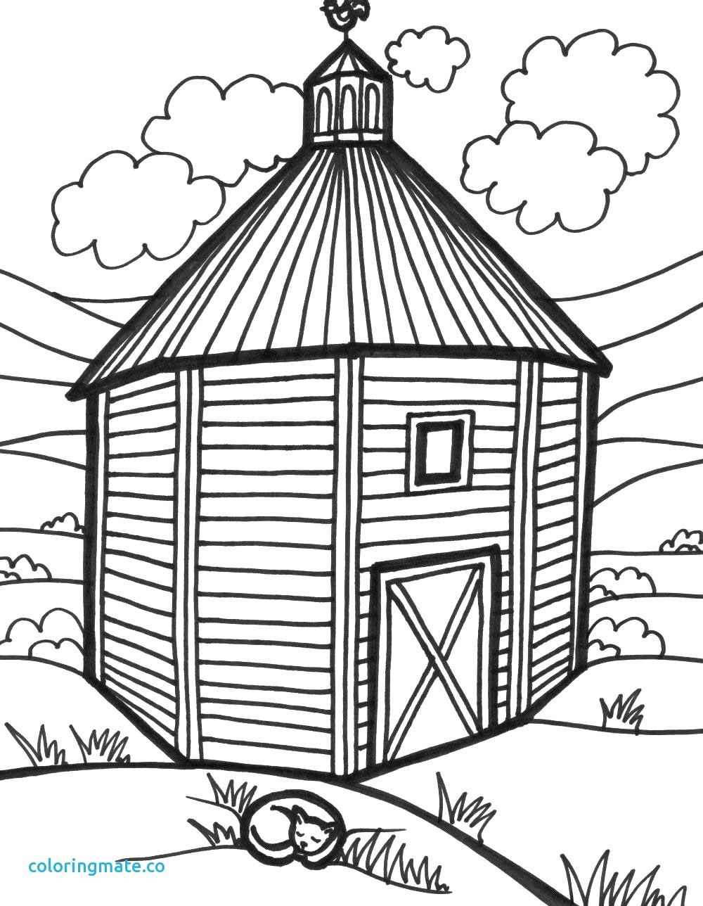 Simple Barn Drawing
