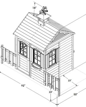 300x372 Kids Barn Like Playhouse Features Playhouse With Curved Barn Roof