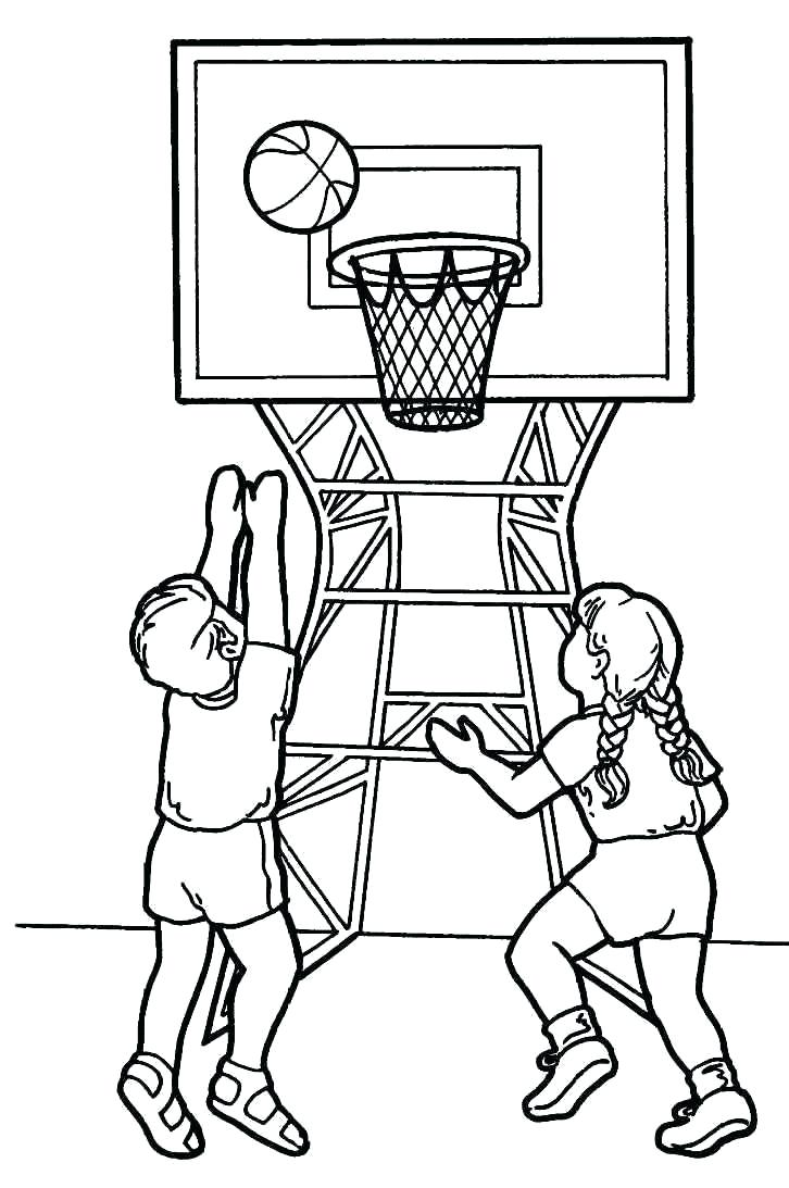 726x1093 Printable Basketball Hoop Coloring Pages Free Coloring Book Picture