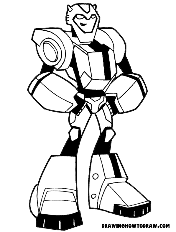 597x786 How To Draw Bumblebee From Transformers With Step By Step Drawing