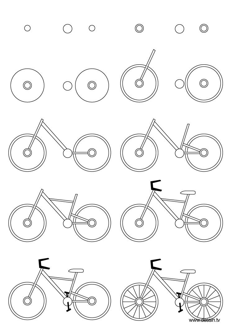 744x1052 Drawing Bicycle