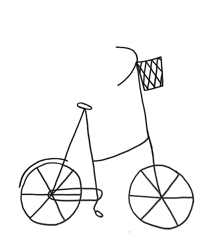 700x799 How To Draw A Cartoon Bicycle Simple Way To Draw Bike Drawing Art