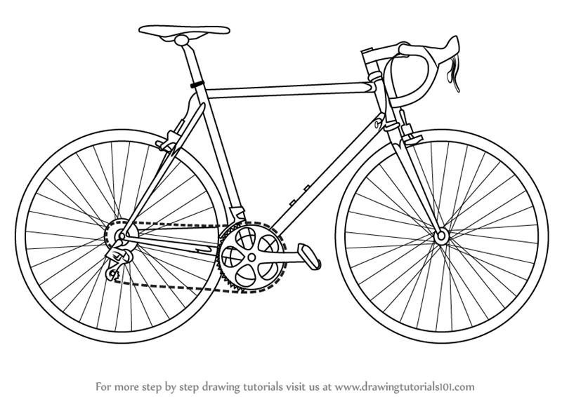 800x566 Learn How To Draw A Bike (Two Wheelers) Step By Step Drawing
