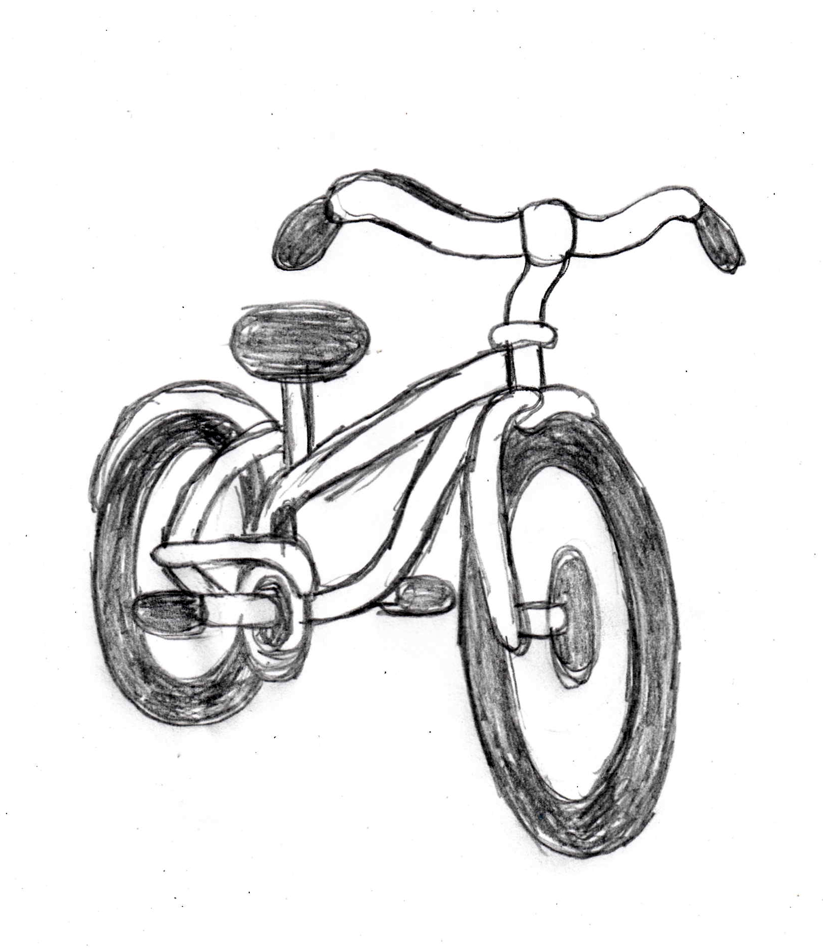 1638x1886 Bicycle Drawing Tutorial On And Drawissimo Kids