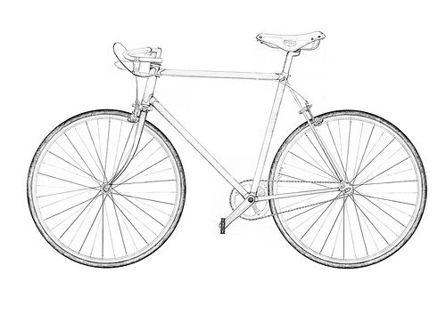 500x353 Layered Bike Bicycling, Sketches And Tattoo