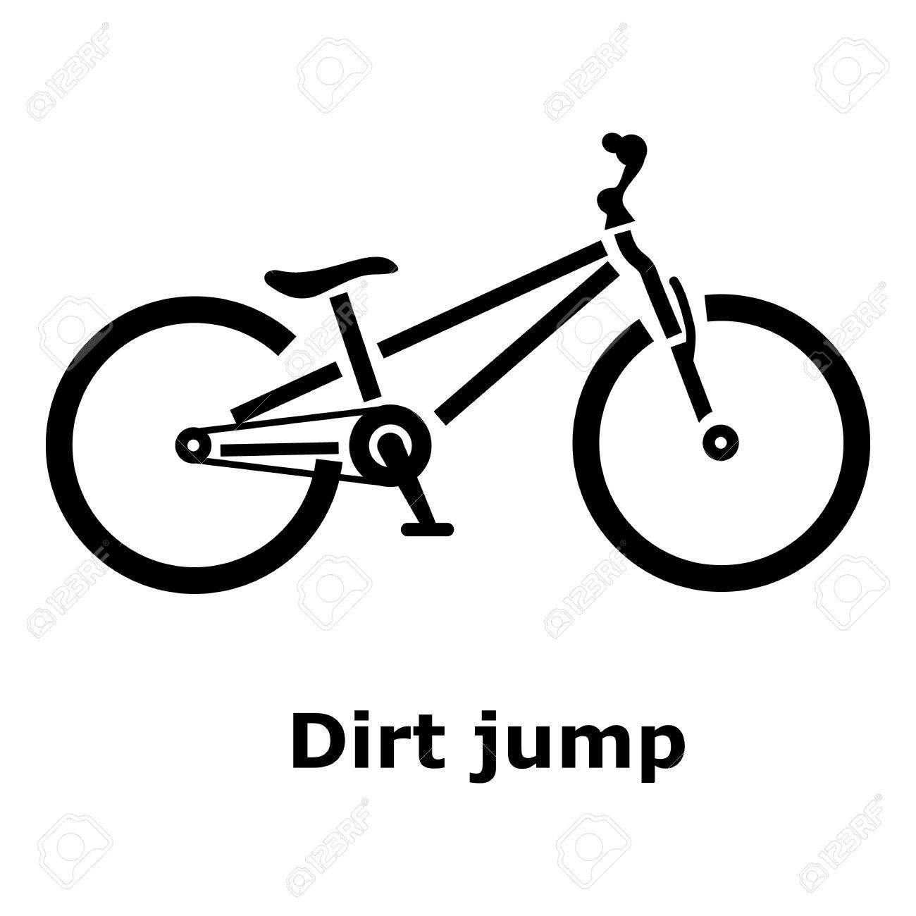 1300x1300 Dirt Jump Bike Icon. Simple Illustration Of Dirt Jump Bike Vector