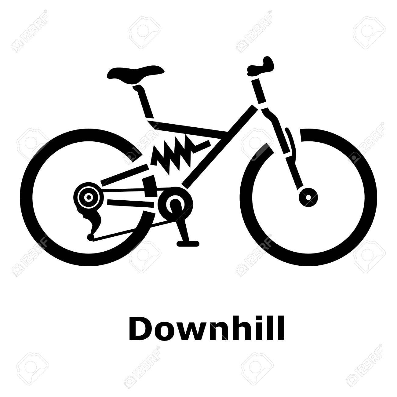 1300x1300 Downhill Bicycle Icon. Simple Illustration Of Downhill Bicycle