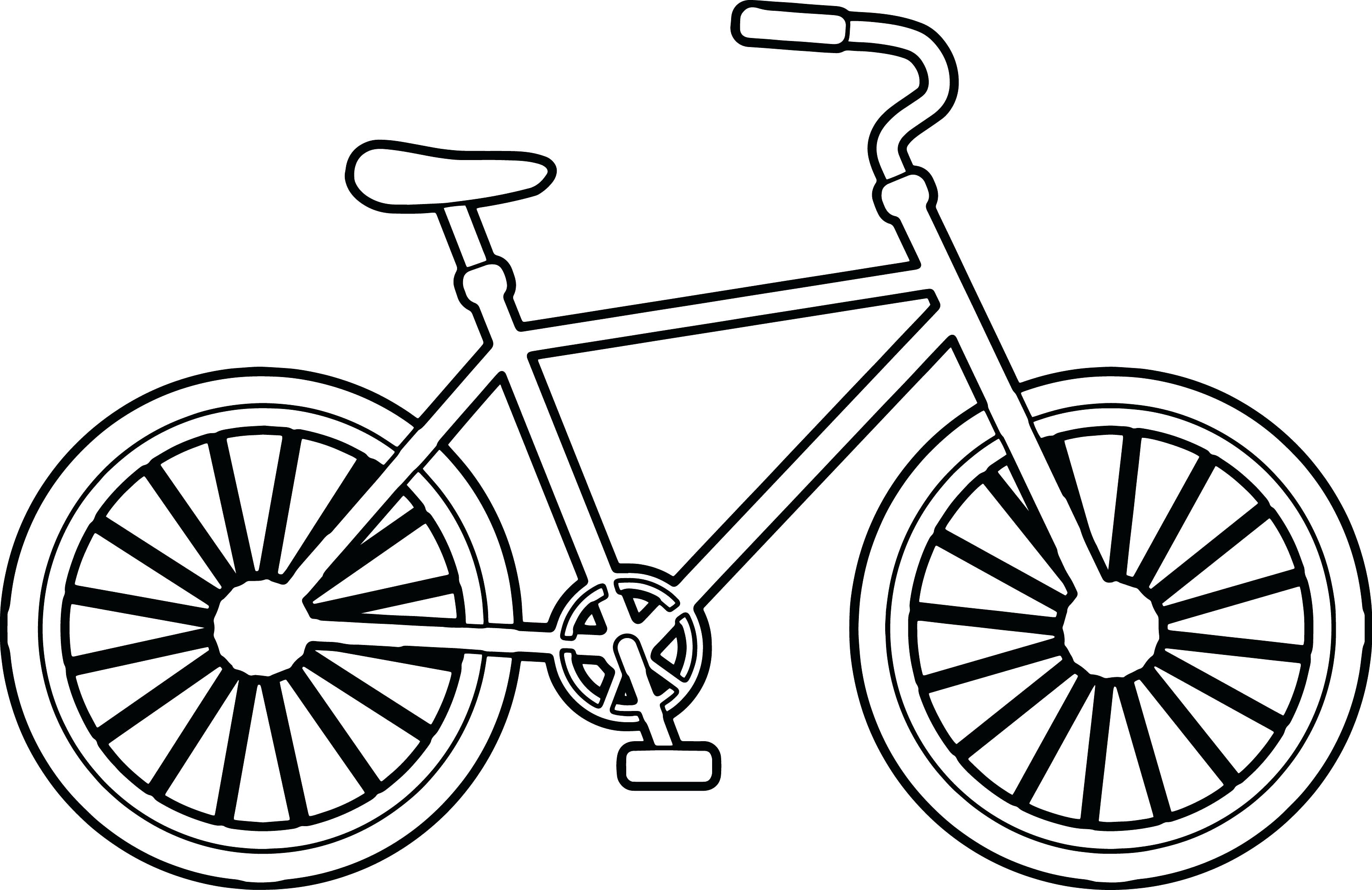 Simple Bike Drawing at GetDrawings.com | Free for personal use ...