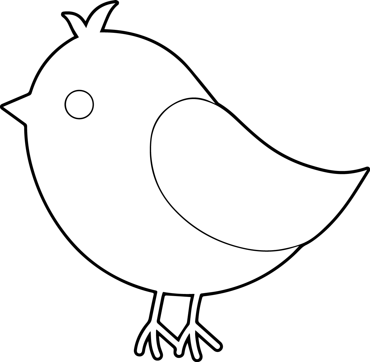 Simple Bird Line Drawing at GetDrawings