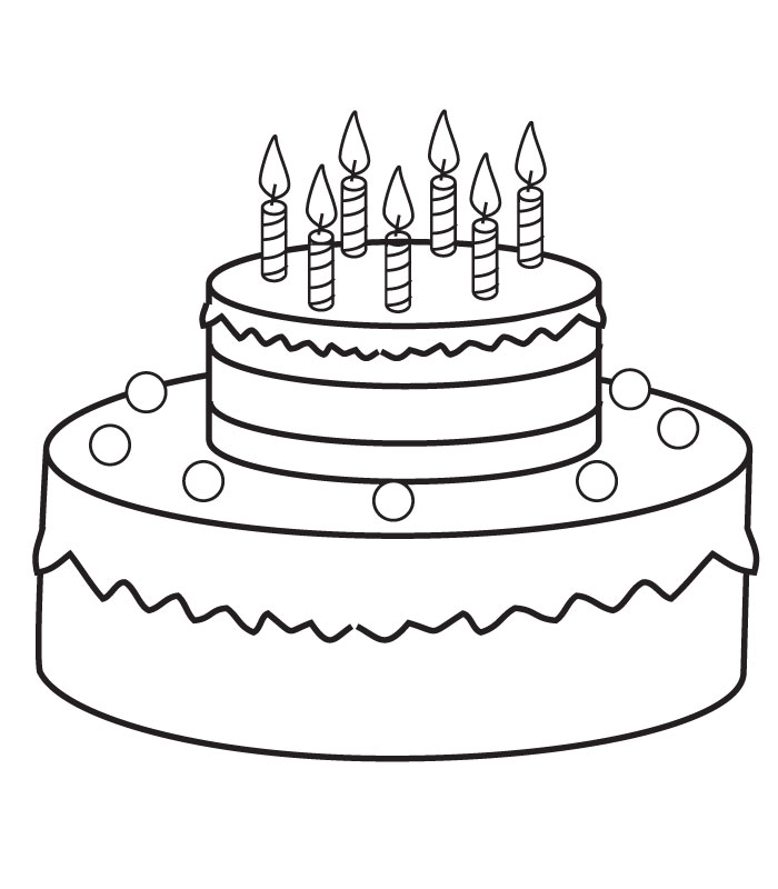 Simple Birthday Cake Drawing At Getdrawings Free For Personal