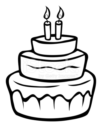 354x439 Gorgeous Design Birthday Cake Outline Stock Photos Freeimages Com