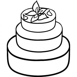 302x302 Lovely Decoration How To Draw A Cake Cozy Inspiration Simple