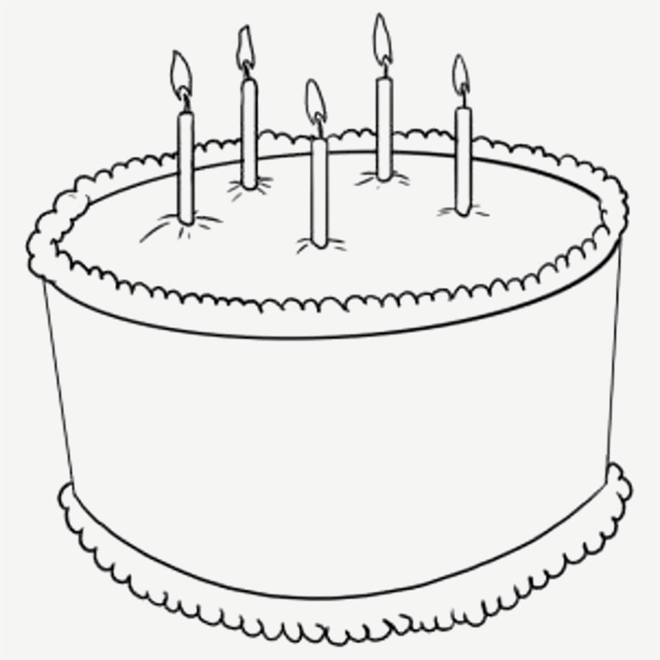 960x960 New Images Of Birthday Cakes To Draw Drawing A Cartoon Cake