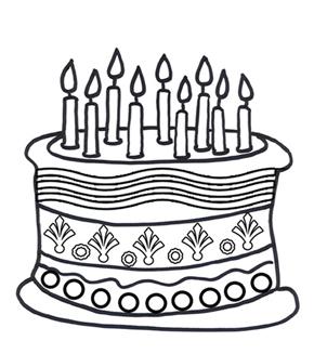 290x327 Birthday Cake Colouring Page Online Birthday Cake, Kids Activity