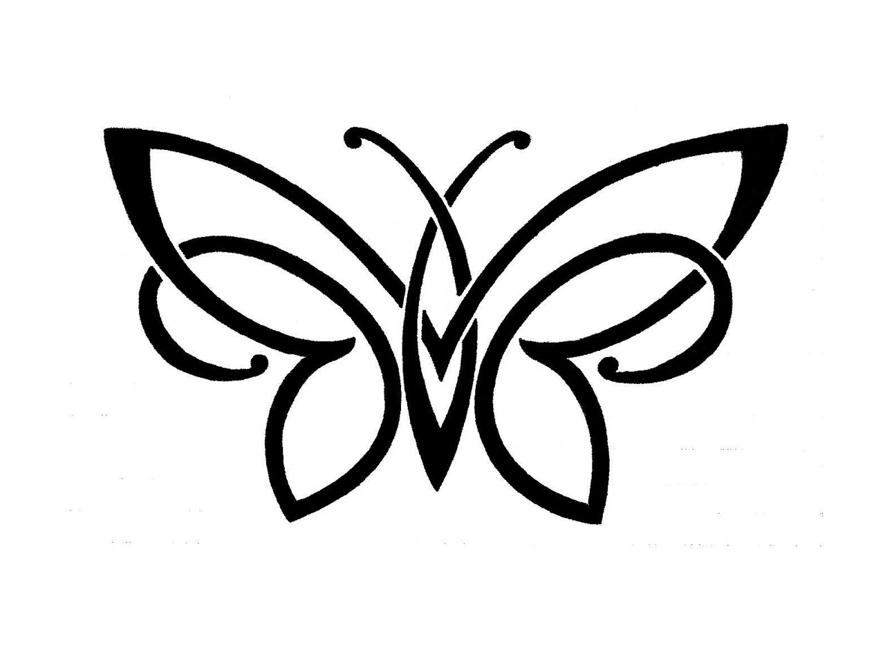 1280x960 Simple Drawing Of Butterfly Butterfly Clipart Butterfly 19 Black
