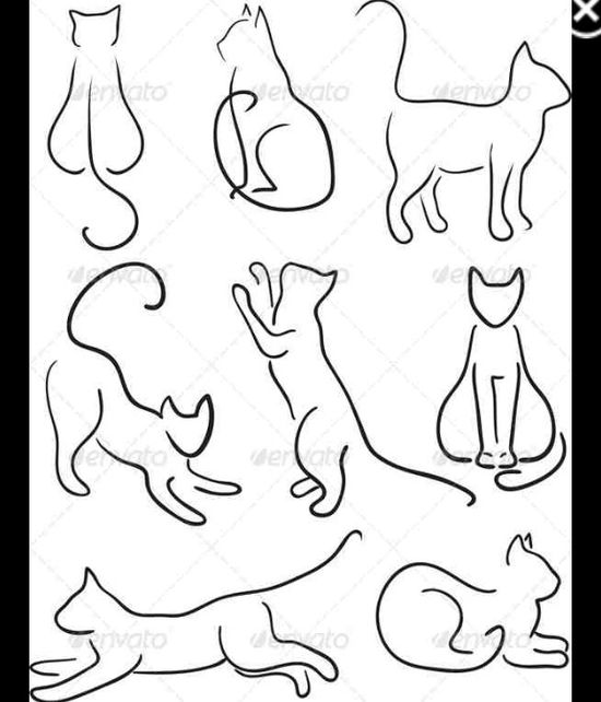 550x642 Kitties Art Amp Illustrations Tattoo, Cat And Doodles
