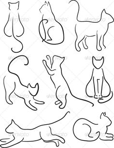 236x306 Cat Outline Tattoo Diy Cat Silhouette Pillow Cases @ Mentions