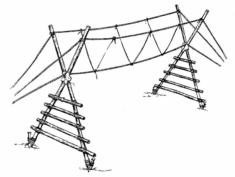 simple bridge drawing at getdrawings free for personal use Amplifier Wiring 799x601 monkey bridge projects activities scouts scouting