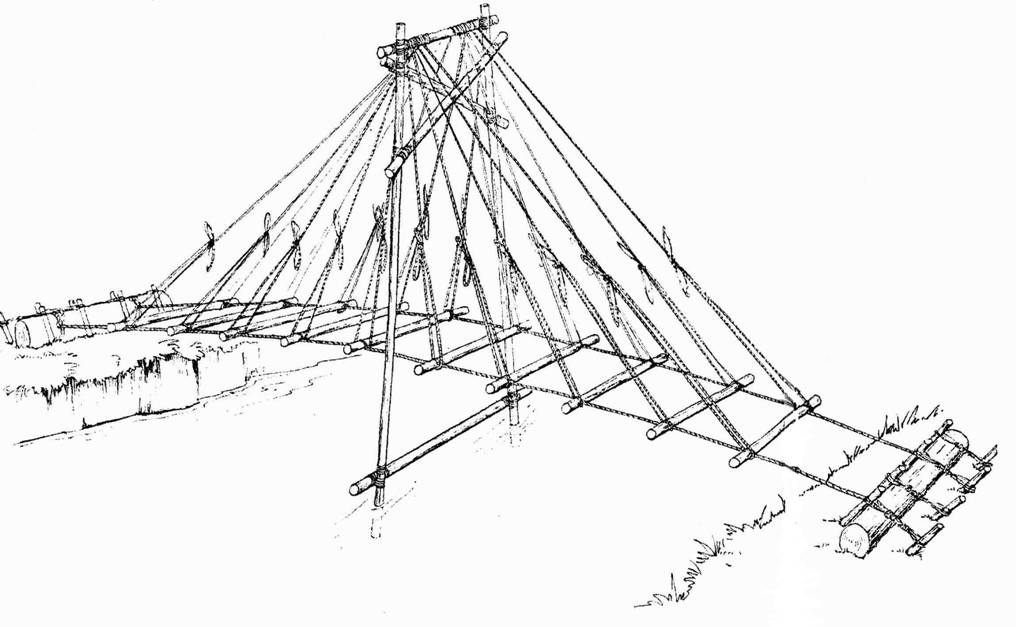 simple bridge drawing at getdrawings free for personal use Sub Stereo Amp Wiring 1016x627 pioneering projects suspension bridge