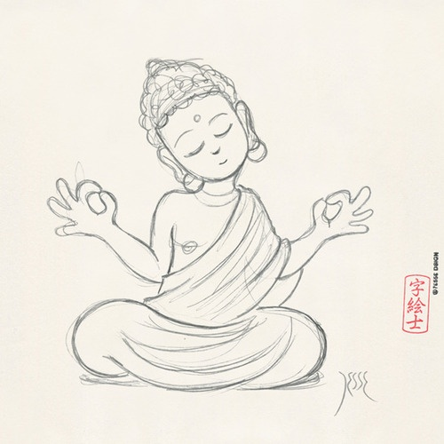 500x500 Image Result For Simple Buddha Head Paintings Buddha Designs