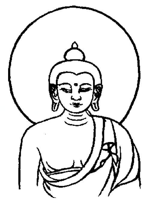 496x676 Simple Buddha Drawing