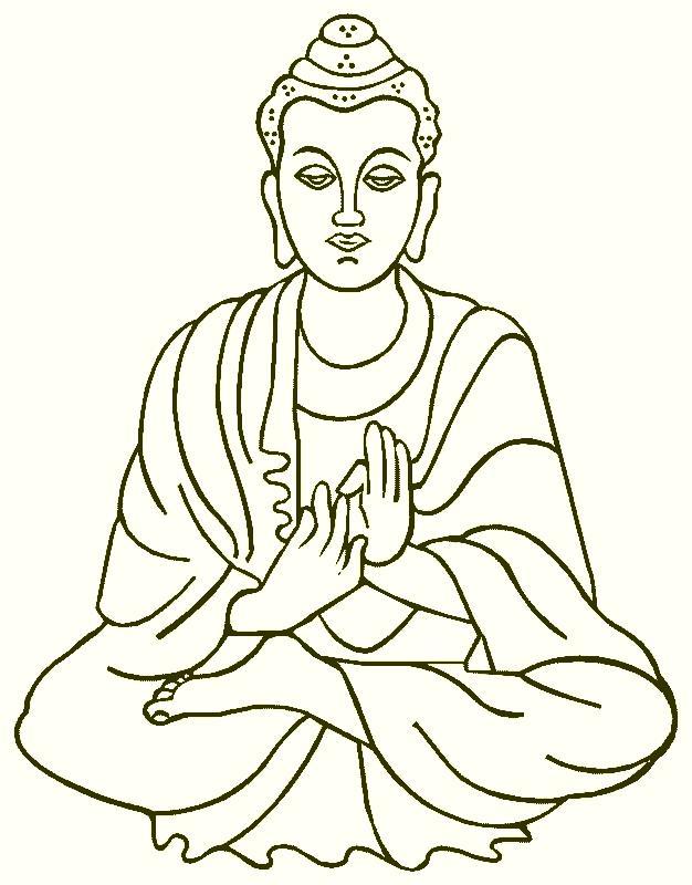 626x800 Buddha Tattoo Design Simple Simple Black Buddha Tattoo Stencil
