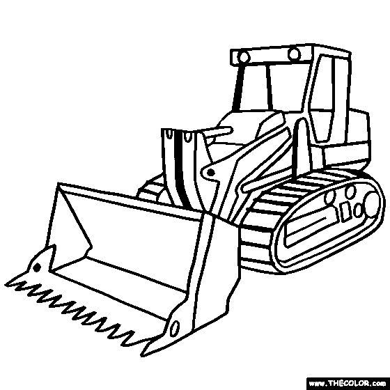 560x560 Bulldozer Coloring Pages Coloring Pages Coloring