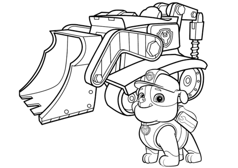 480x339 Paw Patrol Rubble's Bulldozer Coloring Page Free Printable