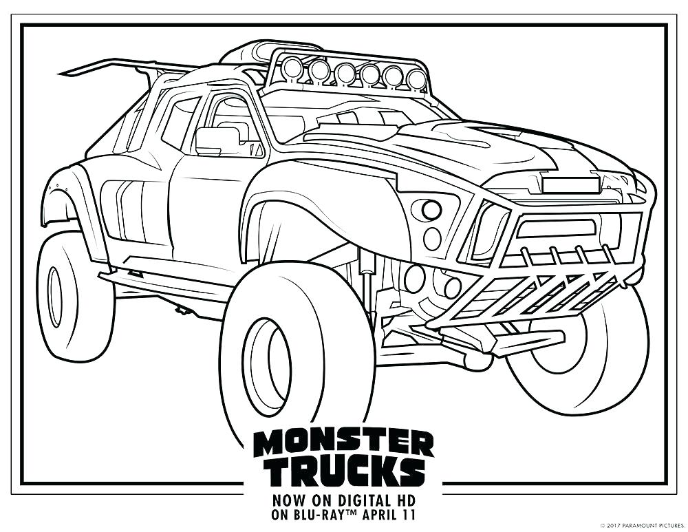 1000x773 Simple Monster Truck Coloring Pages As Well As Bulldozer Monster