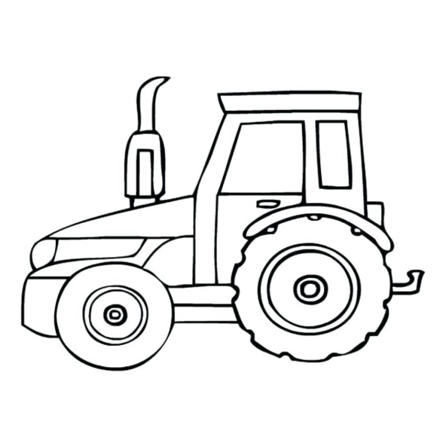 878x878 Click To See Printable Version Of Farm Tractor Coloring Page