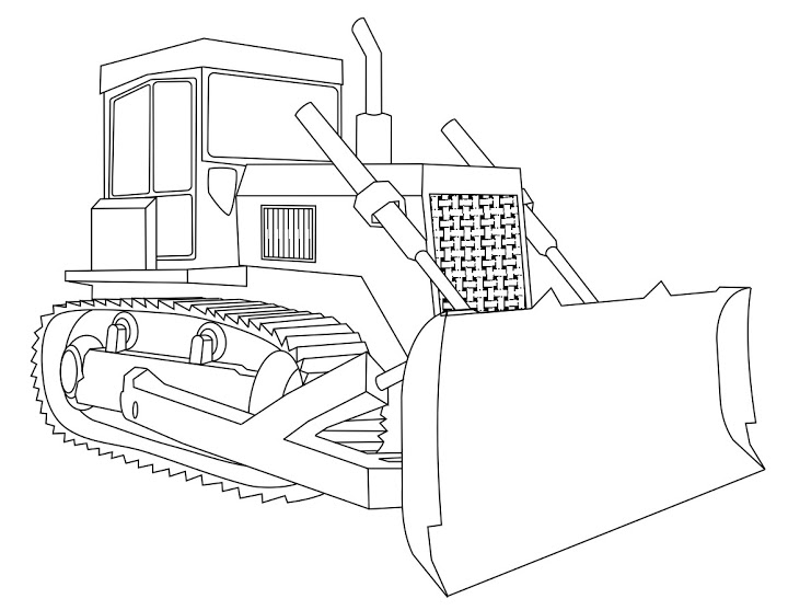 720x557 Bulldozer Coloring Pages