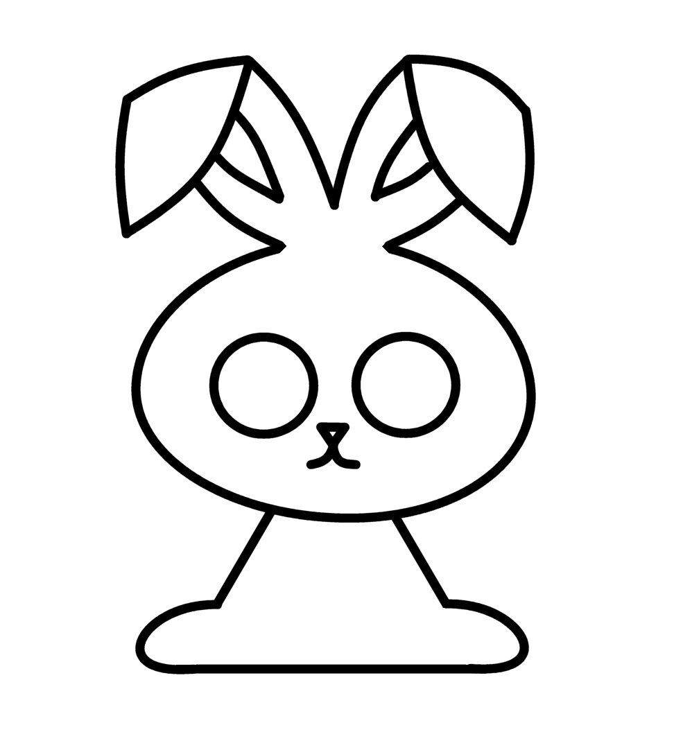 998x1082 Simple Easter Bunny Drawing Easy Easter Bunny Drawings Happy