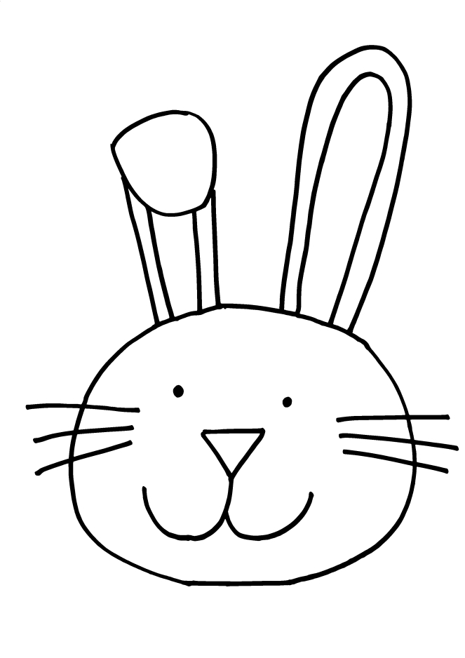 Simple Bunny Face Drawing