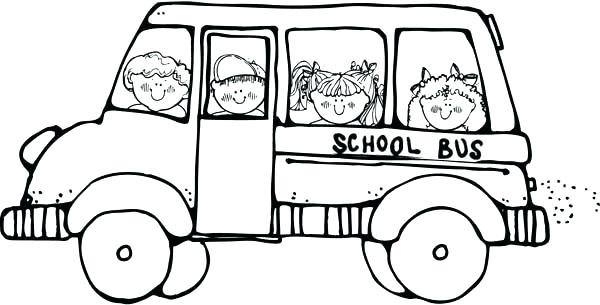 600x305 Coloring Picture Of A Bus Simple Bus Coloring Pages Coloring