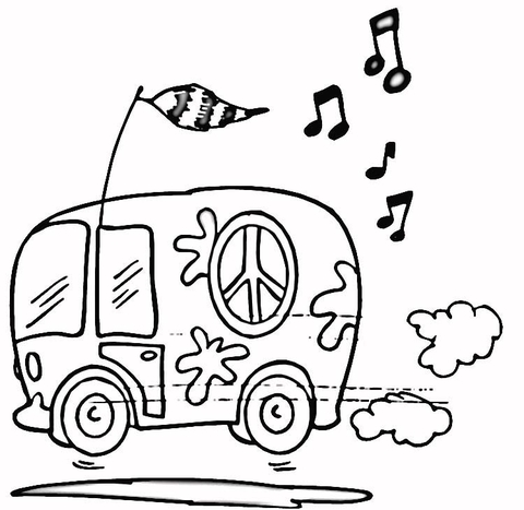 480x467 Hippie Bus Coloring Page Free Printable Coloring Pages