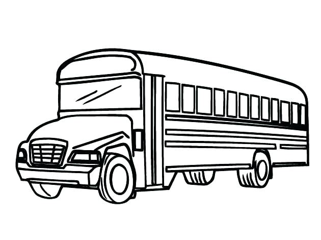 630x470 New School Bus Coloring Pages For Preschool For A Simple Outline