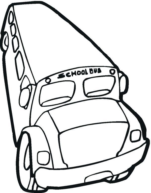 609x780 School Bus Coloring Printable School Bus Simple Bus Drawing Unique