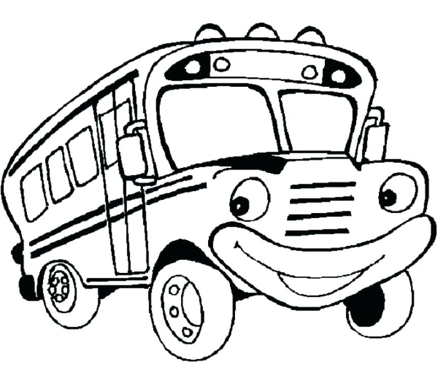 863x761 Simple Bus Coloring Page Fee