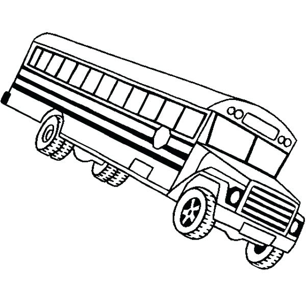 600x600 Simple School Bus Coloring Page Fee Pages Magic Characters