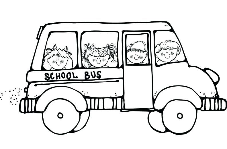 792x523 Simple School Bus Coloring Page Fee Safety Pages