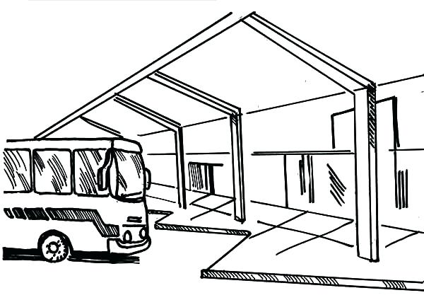 600x424 Awesome Coloring Pages Of Bus Image Simple Color Bros Free Magic