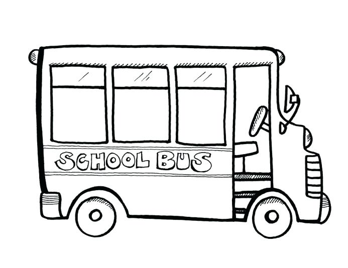 693x534 Simple School Bus Coloring Pages Kids Page Book Free Printable