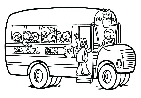 600x417 This Is School Bus Coloring Page Images