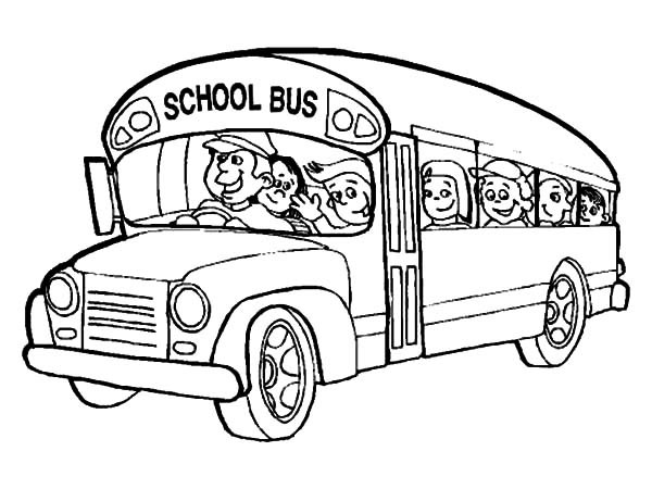 600x450 Bus Driver Bring All Student To School Coloring Pages Best Place