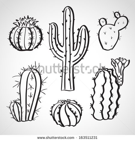 450x470 image result for potted cactus drawing art class pinterest